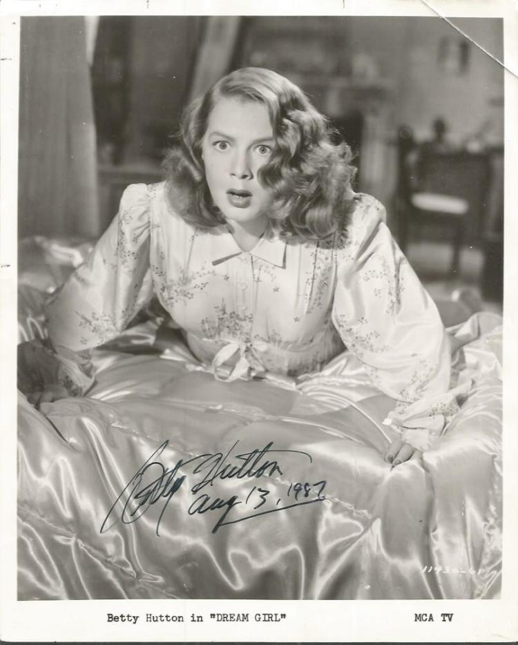 Betty Hutton signed 10x8 b/w photo from Dream Girl