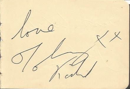 Johnny Kidd signed autograph album page.  Suitable