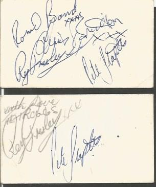 The Troggs signed 1966 business card.  Signed by R