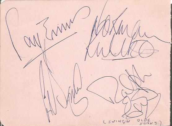 Swinging Blue Jeans signed autograph allbum page.