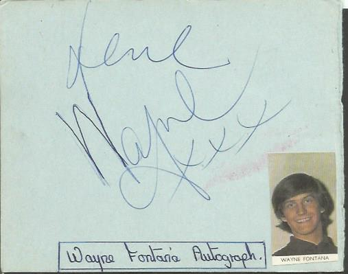 Wayne Fontana and the mindbenders signed autograph