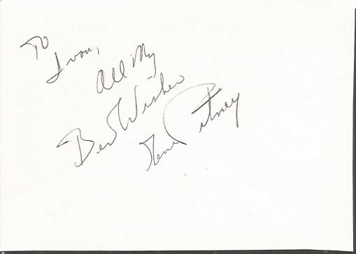 Gene Pitney autograped white card.  Comes with 196