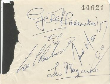 Gerry & Pacemakers autographs on irregular cut pap