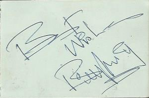 Billy Fury, Joe Brown and Marty Wilde autographs