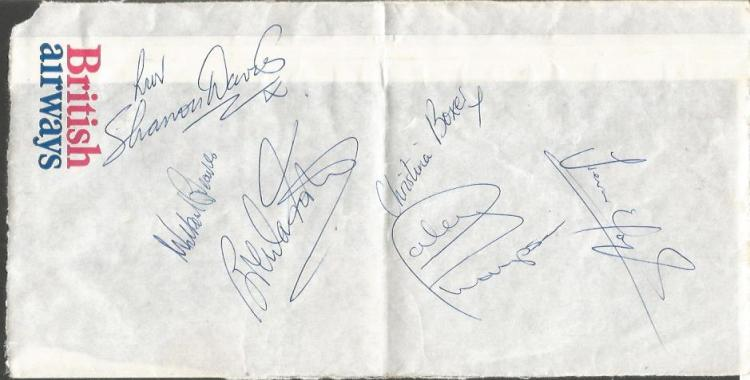 Great Britain Summer Olympics squad 1980 signed BA