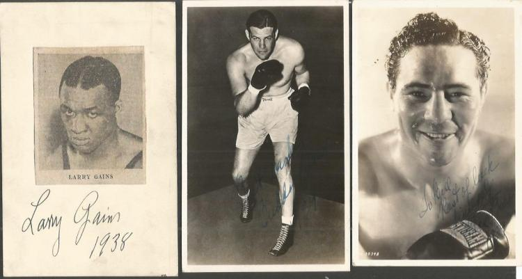 Boxing autograph collection. Amongst those includ