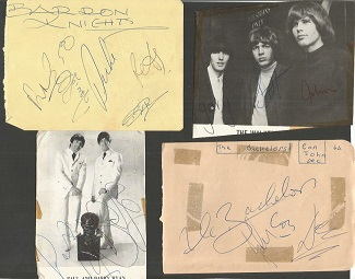 1960''s pop group signed collection. Walker Broth