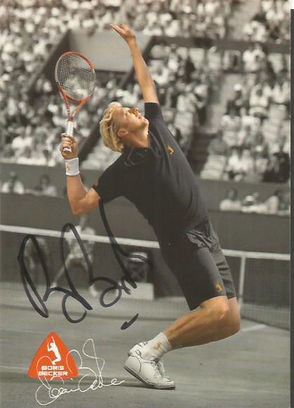 Boris Becker - Tennis Champion  - Postcard Photo