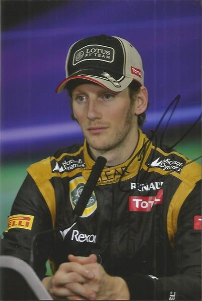 Romain Grosjean- Racing Driver   - Postcard  Photo