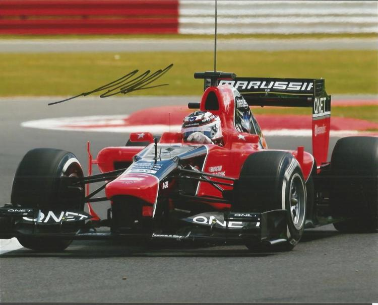 Max Chilton - Racing Driver     - 10X8  Photo Sign