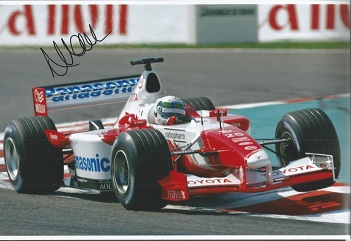 Alan Mcnish - Racing Driver     - 12X8  Photo Sign