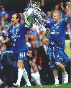 Damian Duff -   Chelsea  - 10X8  Signed  Photo-