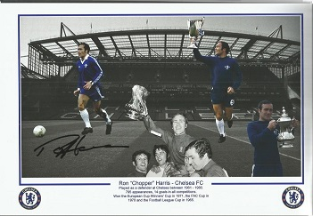 Ron Harris  - Chelsea -    - 12X8   Signed Photo -
