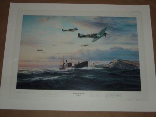 Return of The Few 92 Squadron signed print. Very r