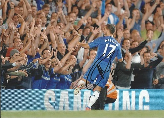 Eden Hazard Signed Chelsea 8X11 Photo Good condit