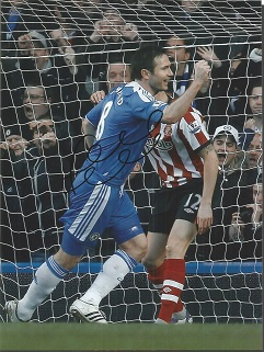 Frank Lampard Signed Chelsea 8X10 Photo Good cond