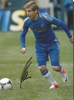 Marko Marin Signed Chelsea 8X11 Photo Good conditi