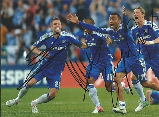 Chelsea Signed 8X10 Photo By Gary Cahill, Florent