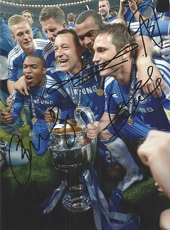 Chelsea Signed 8X11 Photo By Daniel Sturridge, Joh