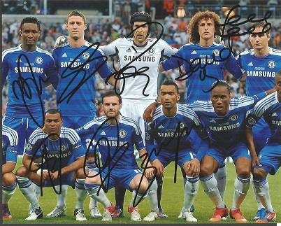 Chelsea Team Signed 8X10 Photo By John Obi Mikel,