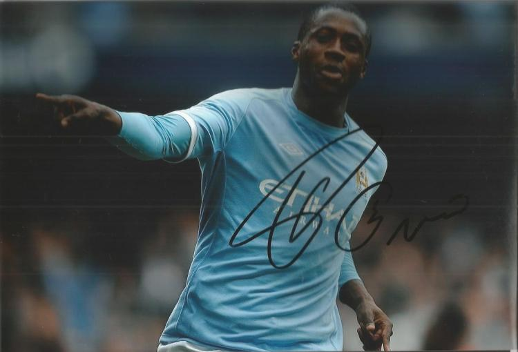 Yaya Toure Signed Manchester City 8X12 Photo  Good