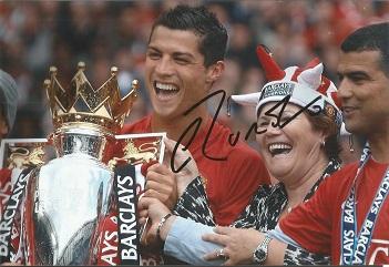 Cristiano Ronaldo Signed Manchester United 8X12 Ph