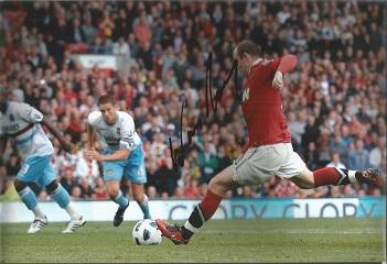 Wayne Rooney Signed Manchester United 8X12 Photo