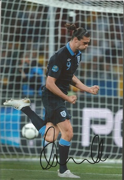 Andy Carroll West Ham Signed England 8X12 Photo  G