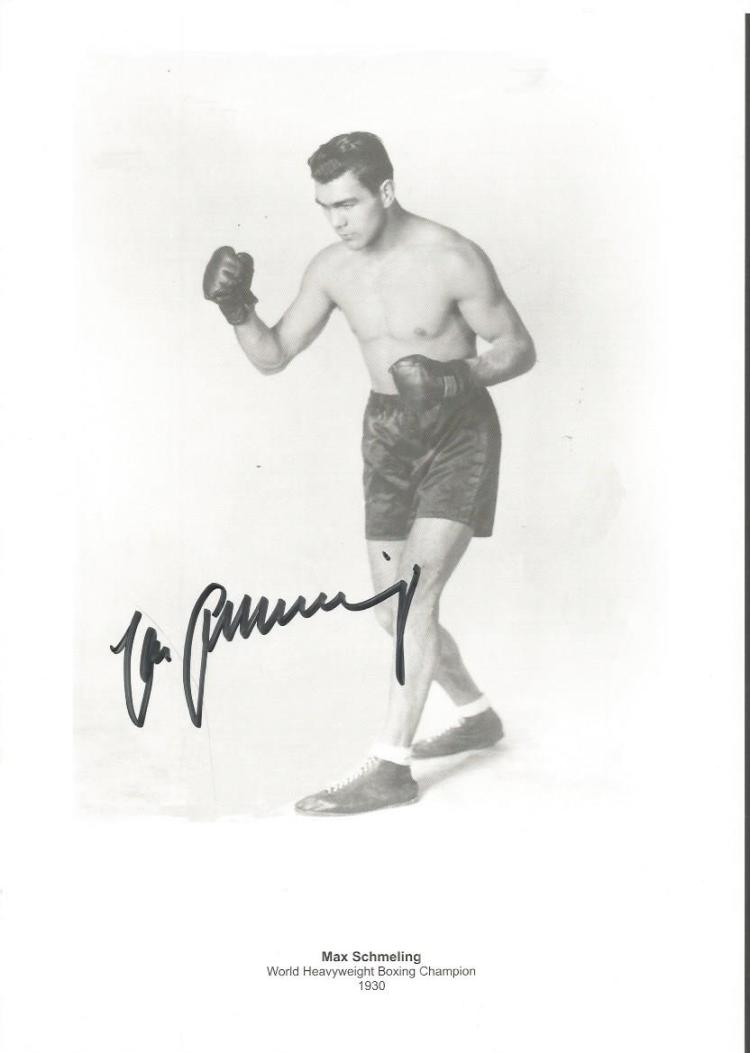 Max Schmeling 1930 World Heavyweight Boxing Champi
