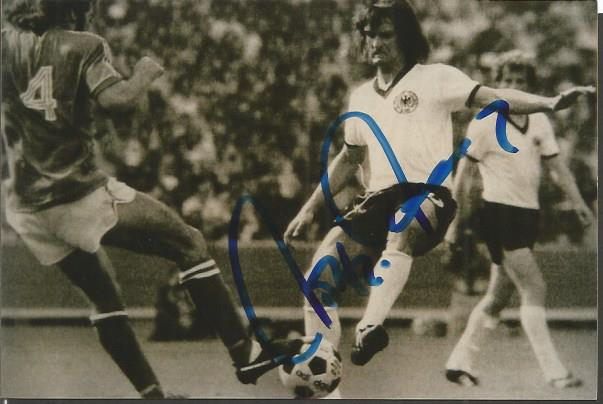 Wolfgang Overath Signed West Germany 4X6 Photo  Go