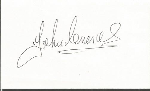 John Charles Leeds & Juventus Legend Signed 3X5 Ca
