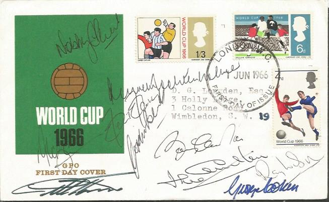World Cup 1966 First Day Cover Signed By Nobby Sti