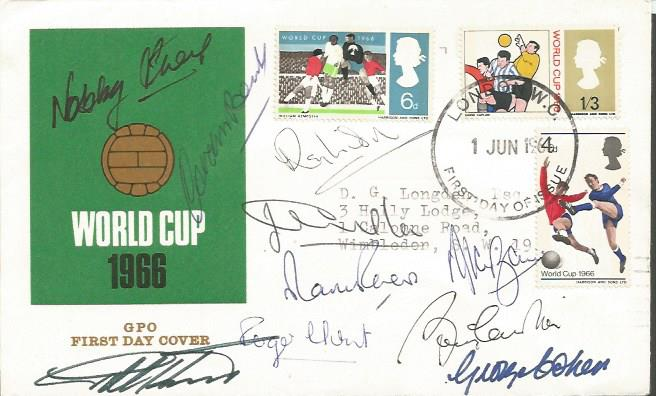 England 1966 World Cup Winners First Day Cover Sig