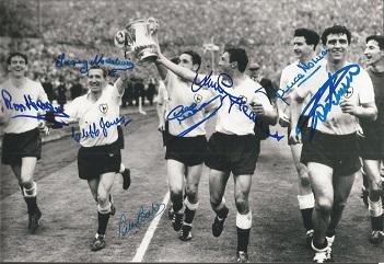 Tottenham Hotspur 1962 Fa Cup Winners Signed 8X12