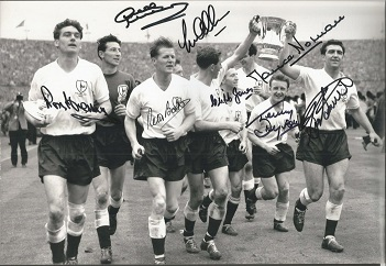 Tottenham Hotspur 1961 Fa Cup Winners Signed 8X12