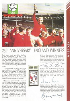 England 1966 World Cup Winners A4 Picture Signed B