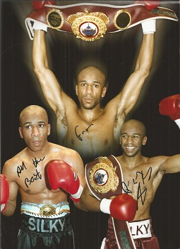 Paul Silky' Jones Signed Boxing Montage 9X12 Photo