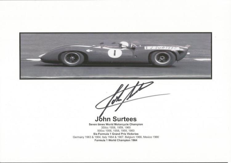 John Surtees Formula One & Motorcycle World Champi