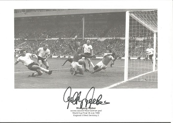 Wolfgang Weber Signed 1966 World Cup Final Goal 8X