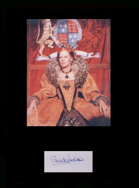 Glenda Jackson. Signature with picture picture in