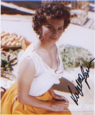 Sophia Loren. P/C picture. Excellent. Good condit