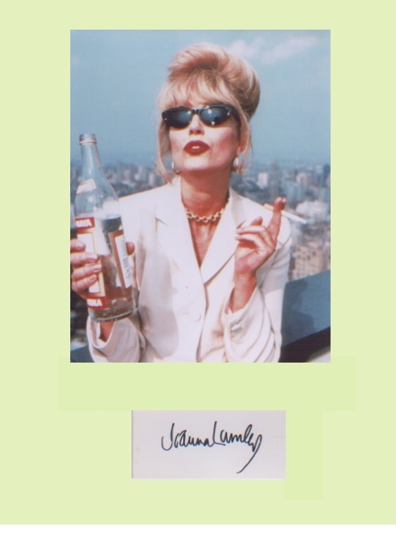 Absolutely Fabulous. Signature of Joanna Lumley mo