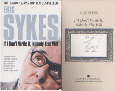 Eric Sykes. A paperback copy of his autobiography