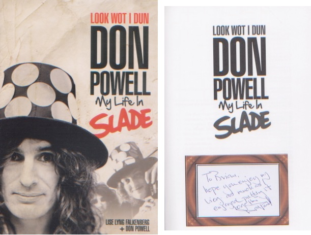 Slade - Don Powell. Signed hardback copy of Powell