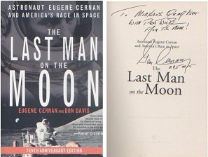 Apollo 17  - Eugene Cernan. Paperback copy of Cern