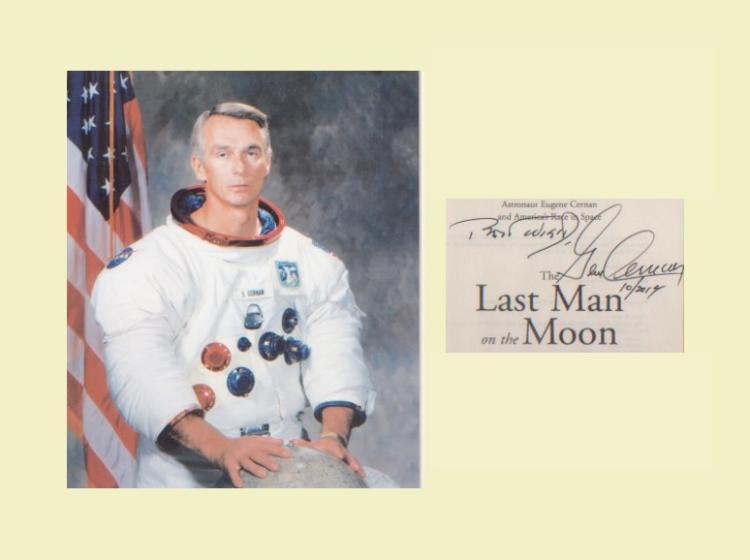 Apollo 17 - Eugene Cernan. Last Moonlanding. Signa
