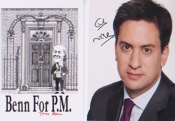 UK Politics - Tony Benn & Ed Miliband. A pair of 7