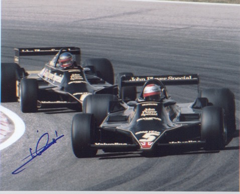Mario Andretti. 10x8 picture in Formula 1 car. Exc