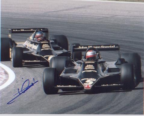 Mario Andretti. 10x8 picture in Formula 1 car. Exc