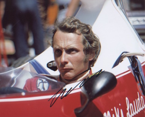 Niki Lauda. 10x8 picture in Formula 1 car. Excelle